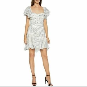 NWOT Bardot polka dot ruched Jessi dress